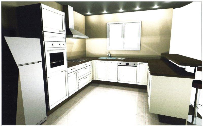 Chambre Couleur Taupe Et Vert : 25 photos Decouvrez des modeles de cuisine Ixina dans le catalogue du