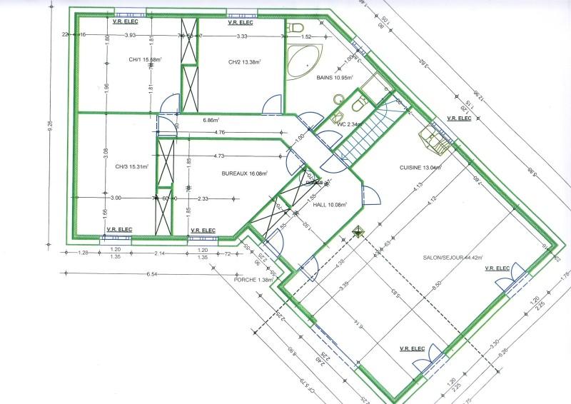 Plan Maison V. Fabulous Plan Rdc U Rnovation Maison V U Olivier